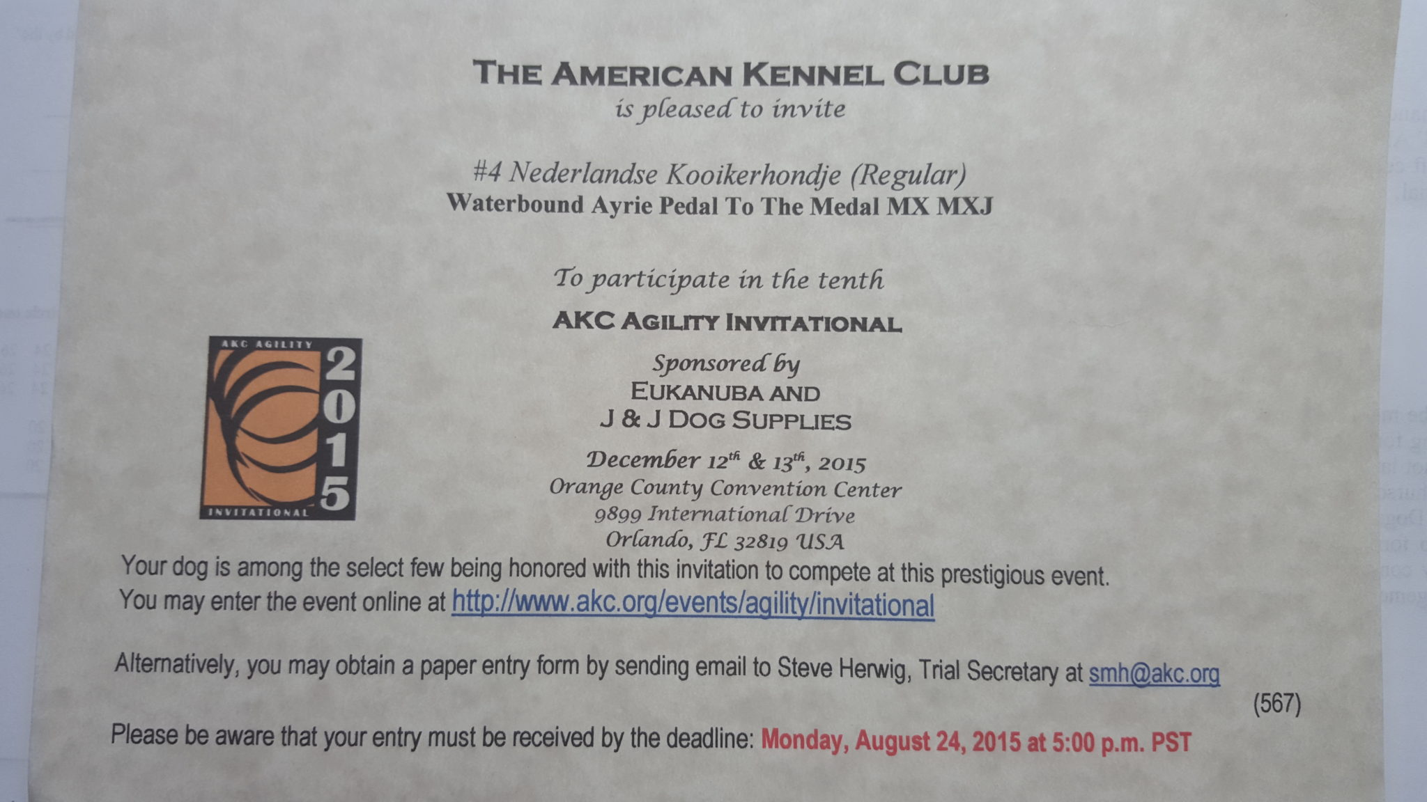 It S Official Ayrie Has Been Invited To Participate In The Akc